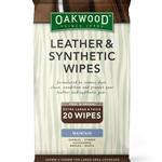 Oakwood Leather Instant Shine Wipes at Nunn Finer - 20 Count