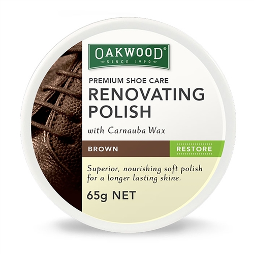 Oakwood Renovating Shoe Polish Brown