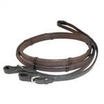 "Nunn Finer Buckle End Rubber Reins with Hand Stops 5/8"" x 24"" Grip"
