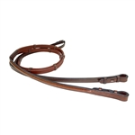 "Nunn Finer Bella Donna Rubber Reins with Hand Stops 5/8"" x 24"" Grip"