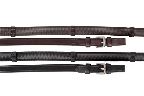 Nunn Finer Sure Grip Reins With Leather Hand Stops