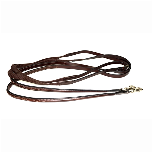 Nunn Finer Bella Donna Draw Reins with Leather and Soft Grip