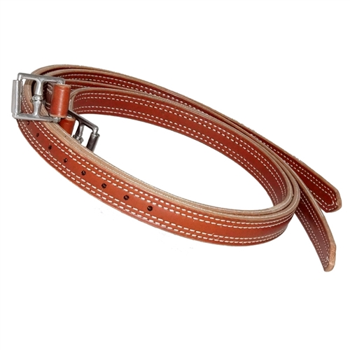 "Nunn Finer Nylon Center 1"" Stirrup Leathers - Russet Brown & New Market"