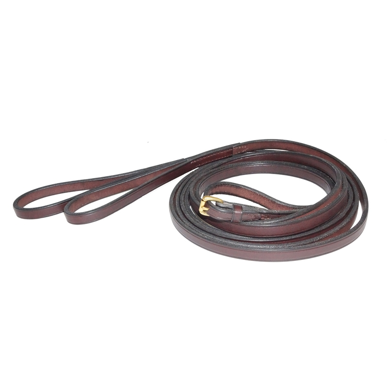 Nunn Finer Flat Draw Reins With Loops American Made