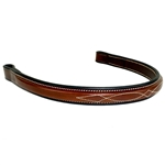 Italian Leather Bridle Crown Cheeks Browband